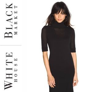 White House Black Market crepe black turtleneck